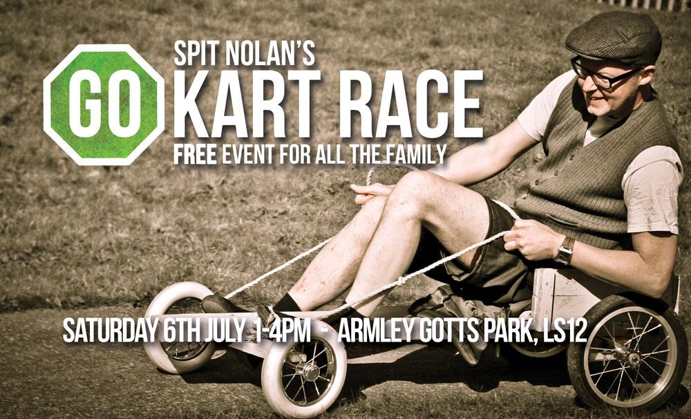 Spit Nolan Go Kart Race